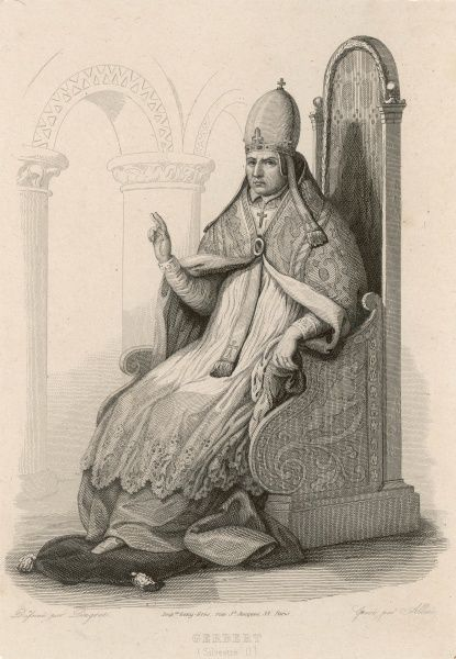 POPE SILVESTER II (Gebert) French pope who took so keen an interest in science that he was rumoured to be a magician