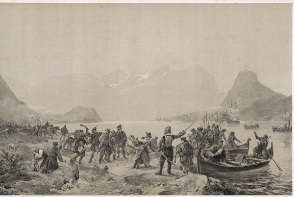 Scottish mercenaries under Colonel Siclair, hired by the King of Sweden to attack Norway land at Romsdalen. They are in the end destroyed by the local peasants