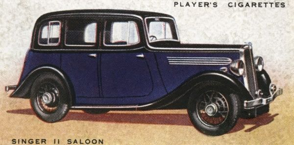 The Singer 11 Saloon doesn't look exciting but incorporates a number of advanced design features, such as a four-speed synchromesh gearbox and a fluid flywheel. Date: 1936