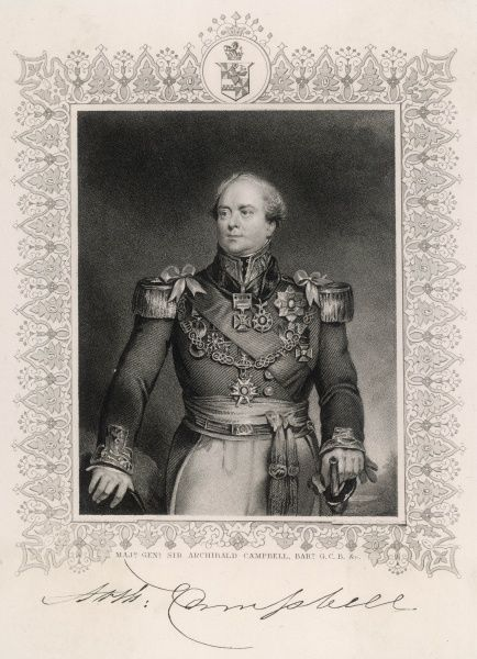 SIR ARCHIBALD CAMPBELL Scottish military commander, notably in Burma