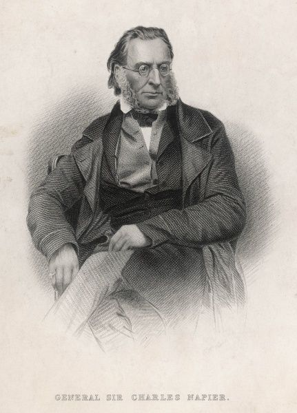 SIR CHARLES JAMES NAPIER friend of Byron,suppressed Chartist riots,in India commanded Sind conquest