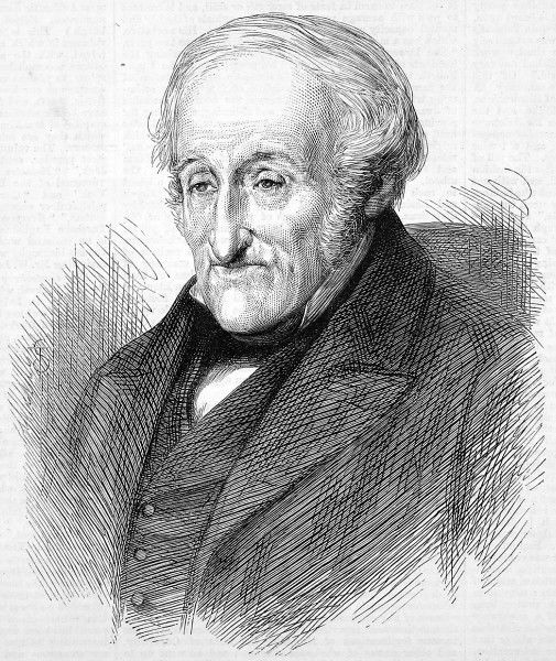 Portrait of English inventor, Sir Francis Ronalds (1788-1873), inventor of the electric telegraph in 1816
