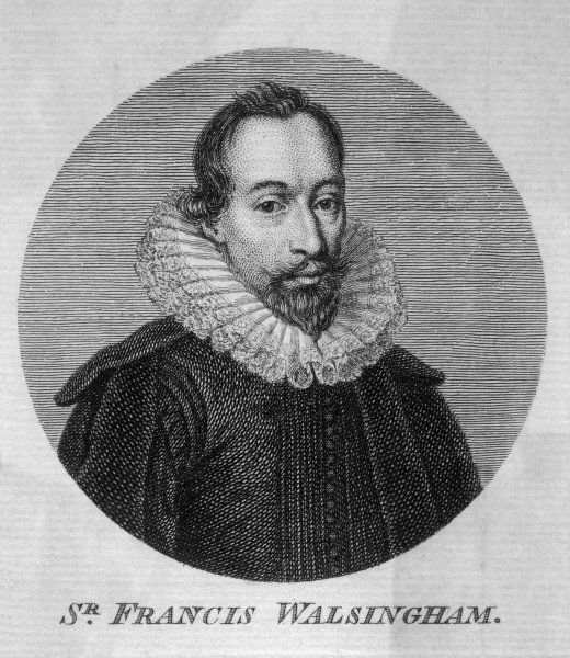 Sir Francis Walsingham, English statesman, Principal Secretary to Queen Elizabeth I, popularly referred to as her Spymaster
