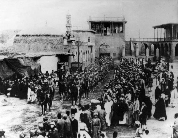 Lieutenant General Sir Frederick Stanley Maude (1864-1917), Commander of the British troops which captured Baghdad during the First World War. Seen here on his entry into the city. Date: 11 March 1917