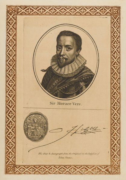 SIR HORACE VERE, Baron of Tilbury military commander - with his autograph
