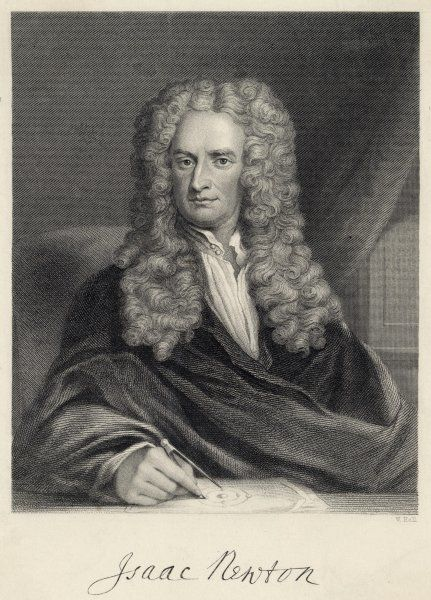 Sir Isaac Newton, English mathematician, physicist, astronomer, natural philosopher, alchemist, theologian and occultist