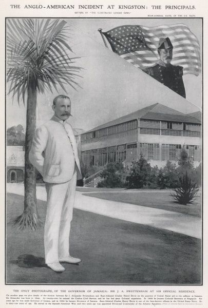 Sir J. A. Swettenham, Governor of Jamaica between 1904 and 1907 at his offical residence in Kingston