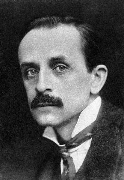 Photographic portrait of Sir James Matthew Barrie (1860-1937), the Scottish novelist and dramatist, pictured in 1924