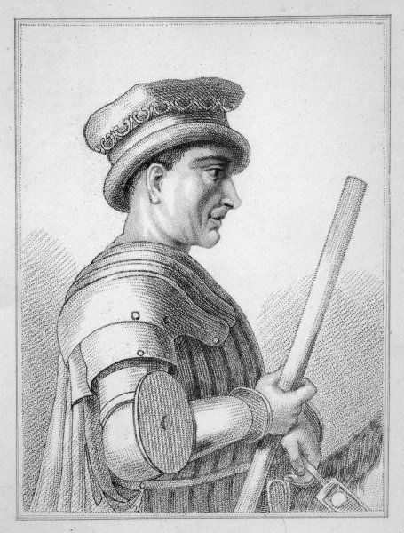 SIR JOHN HAWKWOOD English mercenary soldier in Italy, serving sometimes in the White Company, or in the Holy Company, or freelance for or against the Pope