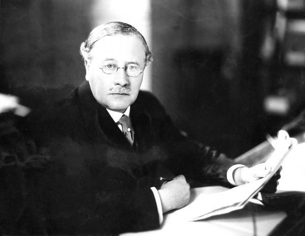 Photograph of Sir Kingsley Wood, the Conservative MP, who sat in the House of Commons between 1918 and 1943. As Chancellor of the Exchequer, between 1940 and 1943, he devised the pay-as-you-earn income tax system