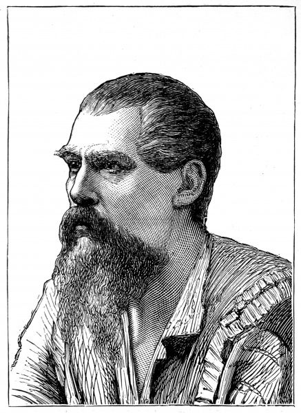 Engraving of Sir Richard Francis Burton, the English explorer, linguist and diplomat, pictured circa 1870