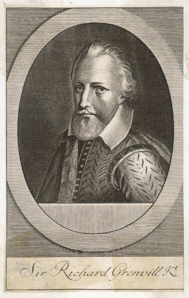 SIR RICHARD GRENVILLE British naval commander and MP; he was mortally wounded while defending his ship, the Revenge, against 15 Spanish treasure ships