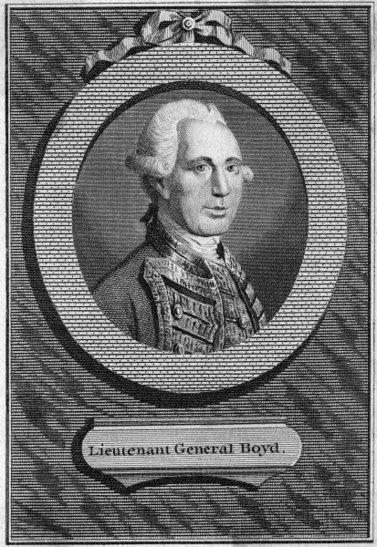 SIR ROBERT BOYD Military, Governor of Gibraltar. Date: 1710 - 1794