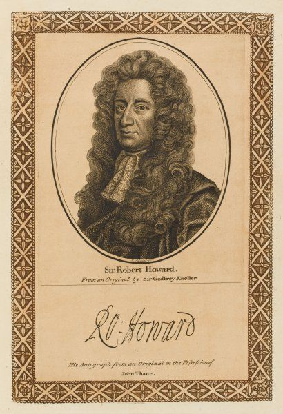 SIR ROBERT HOWARD statesman and playwright, brother-in-law of Dryden with his autograph Date: 1628 - 1698