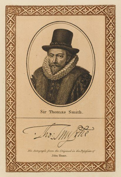 SIR THOMAS SMITH diplomat, active in the East India Company, the Muscovy Company etc, but eventually found guilty of fraud. - with his autograph
