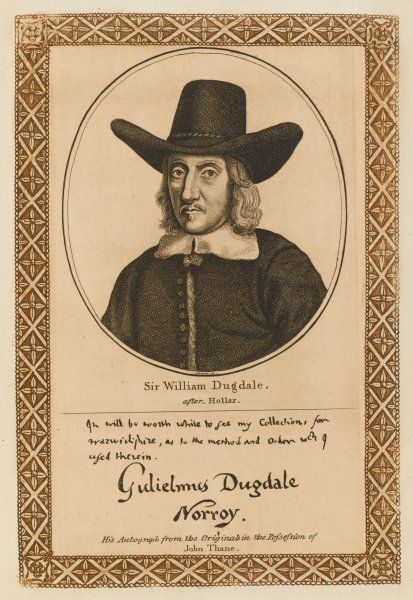 SIR WILLIAM DUGDALE herald and antiquary with his autograph