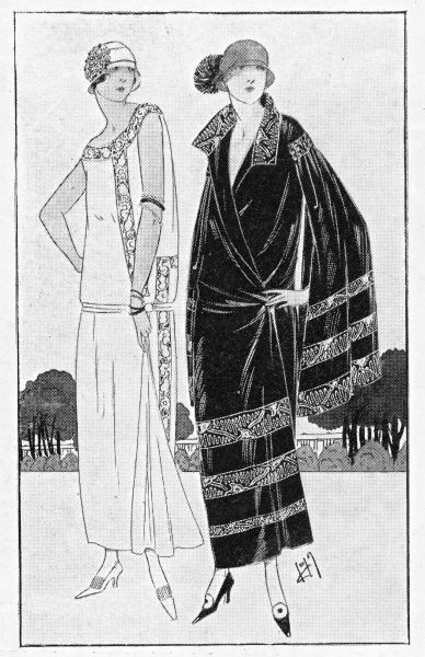 sketch of two gowns by Welly Soeurs, 1923 Date: 1923