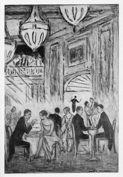 Sketch of the interior of the Piccadilly Hotel, London, 1926 venue for the cabaret Playtime at the Piccadilly Date: 1926