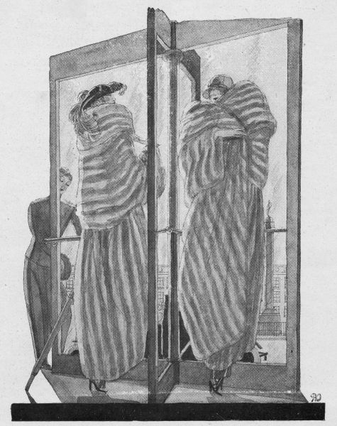 Sketch of women in fur coats, 1923 Date: 1923