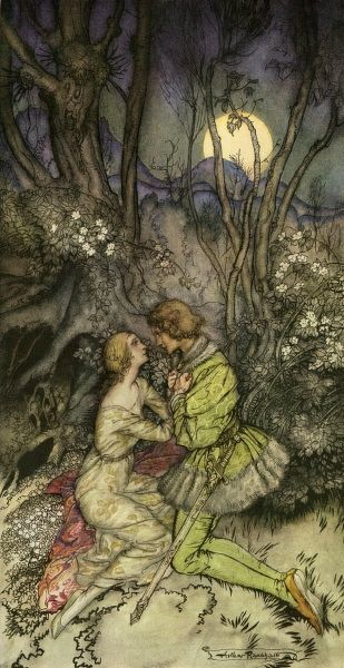The Sleeping Beauty by Arthur Rackham. The Sleeping Beauty by Arthur Rackham Date: 1927