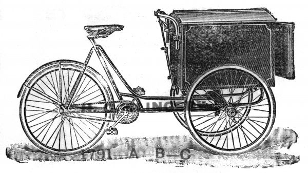 Express carrier tricycle (This is just one of 100s of trucks etc in this catalogue) Date: circa 1900