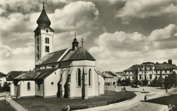 Slovakia - Liptovsky Mikulas. Also known as Liptovsky Svaty Mikulas (or Liptovsky Saint Nicholas) before communist times - renowned as a town of guilds and culture. The Church of Saint Nicolaus (pictured here) is the oldest building in the town