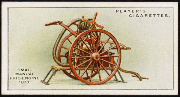 A small manual fire engine constructed by the well-known firm of fire engineers, Messrs. Merryweather & Sons of Greenwich. Date: 1870