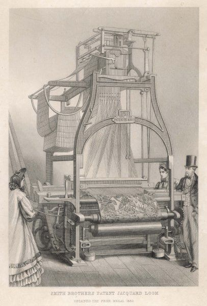 Smith Brothers' PATENT JACQUARD LOOM which obtained a prize medal at the 1862 International Exhibition, London