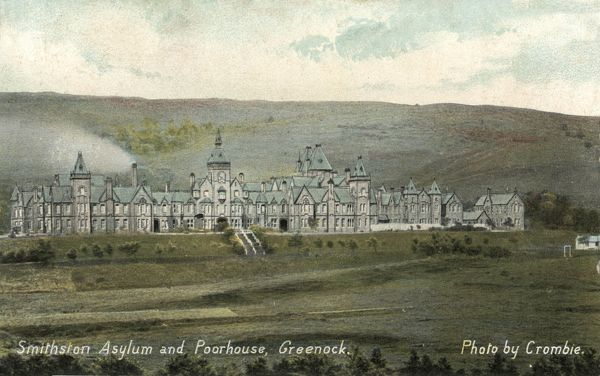 The Smithston Asylum and Poorhouse, Greenock, Renfrewshire, Scotland, was opened in 1879 to house the area's lunatics and paupers