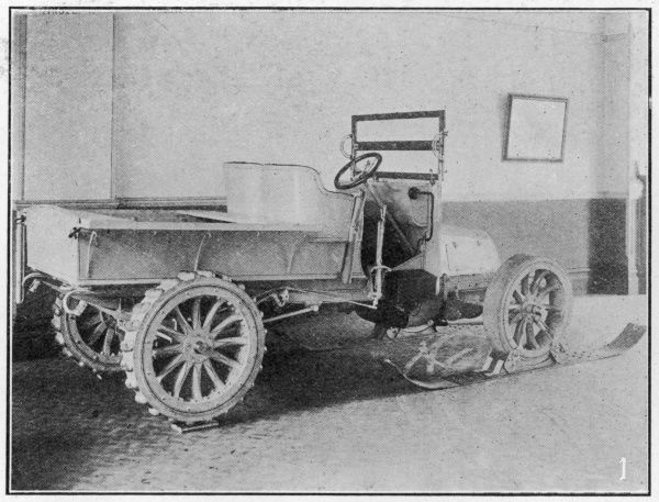 Snow car or 'motor sleigh', used during the Nimrod Antarctic Expedition of 1908-09. This vehicle was reportedly very useful over the flatter areas of Antarctic ice, but less use over a gradient or rocky ground