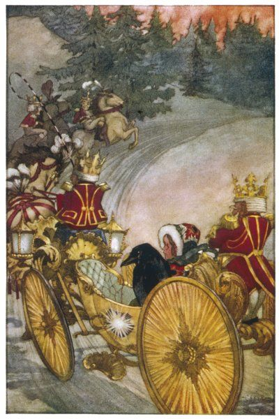 Gerda rides in a new coach of pure gold