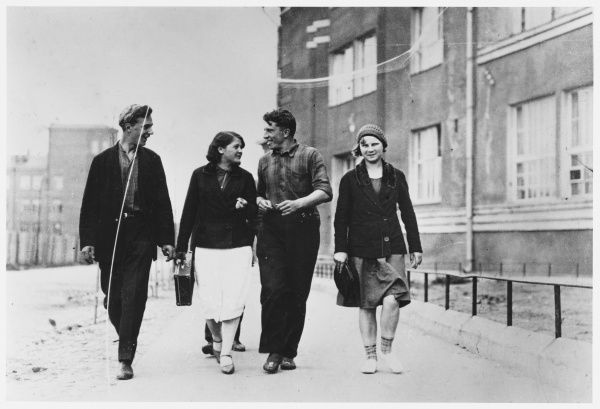 Varia Fillipov walking with some of her friends
