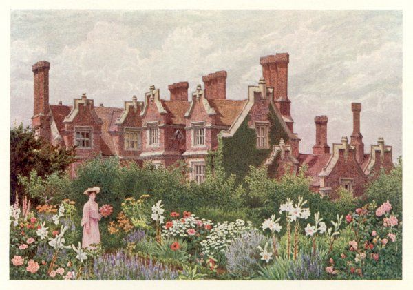 A country house and garden: Hollingbourne Manor, Kent