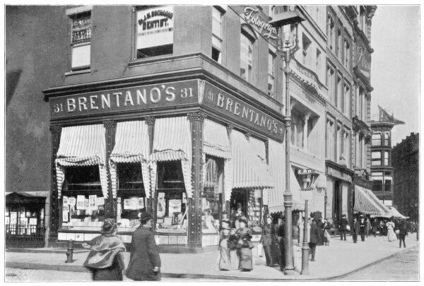 Brentano's book store on the corner of Union Square and 16th Street, New York