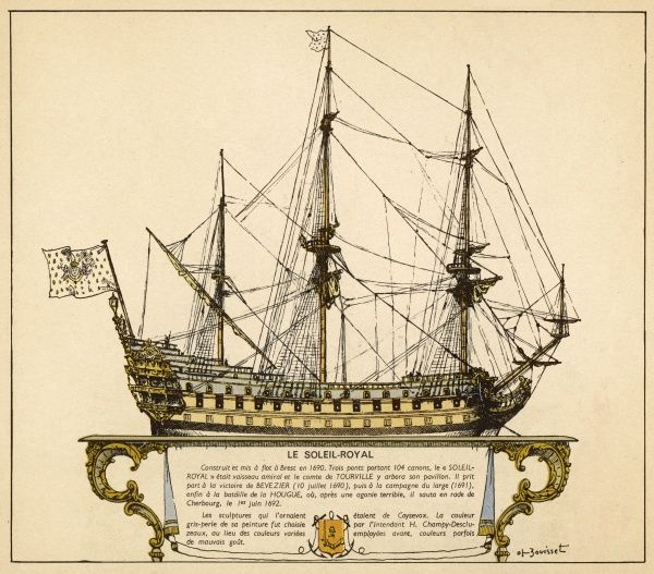 French warship of Louis XIV's reign - he is known as 'Le Roi Soleil' so she is probably named in his honour