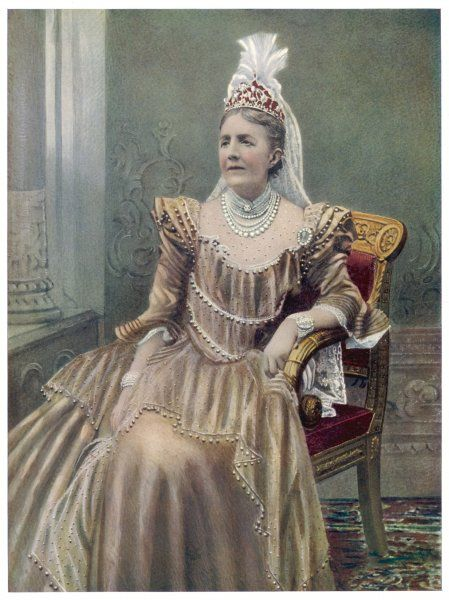 SOPHIA WILHELMINA of NASSAU Wife of Oscar II, King of Sweden (reigned 1872-1907)