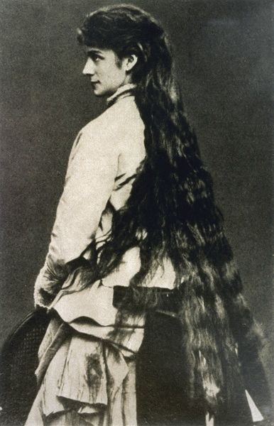 PRINCESS SOPHIE CHARLOTTE Photographed with her long hair combed down, in 1867 during her brief engagement to her cousin, Ludwig II of Bavaria, at his request