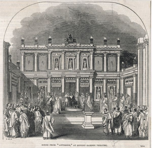'ANTIGONE' performed at Covent Garden Theatre, 1845