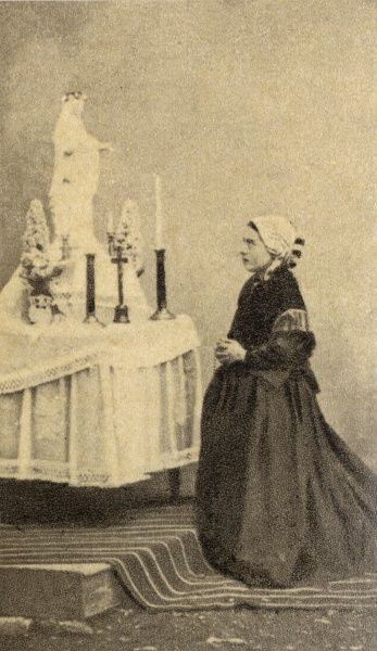 BERNADETTE SOUBIROUS, French peasant girl of Lourdes, whose claim to have encountered Jesus's mother Mary earned her sainthood but also a lot of unwelcome attention : in 1864. Date: 1844 - 1879