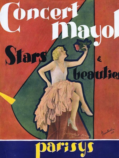 Cover for souvenir brochure for the Concert Mayol, Paris, 1927 1927