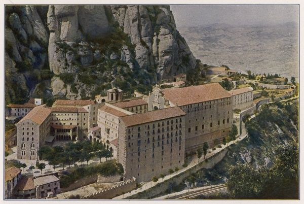 The monastery of Montserrat, Catalonia
