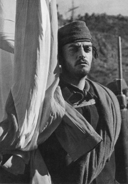 Photograph of a soldier of General Franco's Nationalist Army, near the Catalonian border with France, February 1939