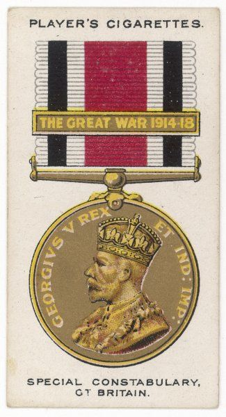 SPECIAL CONSTABULARY MEDAL 1914-1918 war