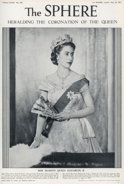 A special edition front cover of Queen Elizabeth II