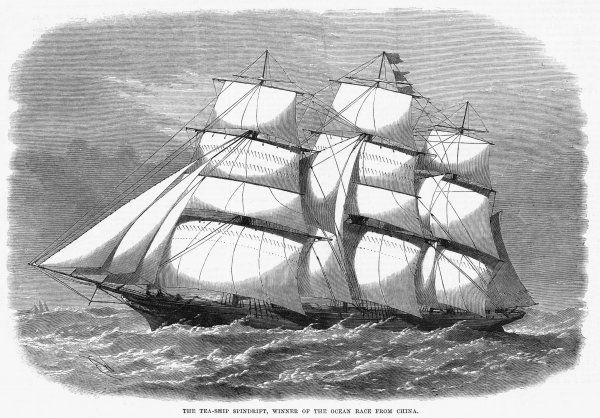British clipper for the China tea trade, which in 1868 won the ocean race from China to England