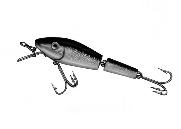 A 'spinner' (spinning fishing lure). Date: 1960s