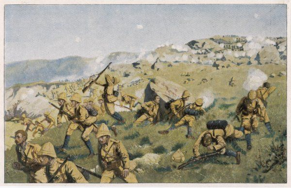 At SPION KOP, the British are initially successful, but are compelled to retreat from the hilltop they have captured, failing to break through the Boer lines