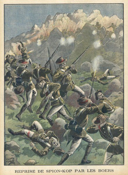 At SPION KOP, Buller and Warren fail to break through the Boer lines despite taking Spion Kop ; they have to retire with heavy losses