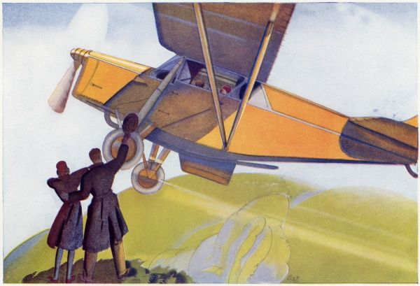 This watercolour image from H. Seabright is entitled 'The Private Owner's Joy - away into the air.&#39