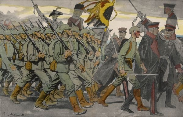 'The Spirit of the German Army'. Date: 1914